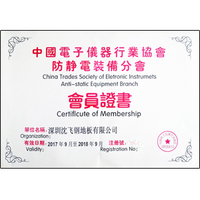 防静电地板深圳沈飞中国电子协会证书